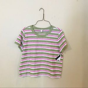 NWT B.P. Striped Knit Top